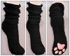 Paw Socks - black