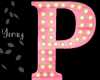 Pink Wood Letter P