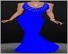 *BLUE* Drape Dress