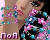 *NoA*FlowerBracelets Blu