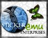 [E] Blue Textured Button