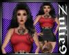 Tina Dress Red &Black
