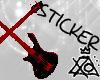 [XO] Guitar Cross, Red