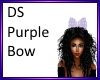 DS Purple hair bow