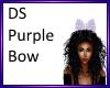 DS Purple hair bow