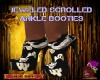 D:JEWELED SCROLL BOOTIES
