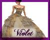 (V) Golden ballgown