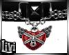 Rebel  Red Heart Collar