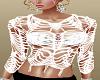 White Mesh Sweater Top