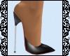 "Black 7"" Stiletto Mules"