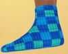 Teal Socks Plaid (F)