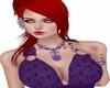 purple bow necklace set