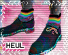 Rainbow choes code socks