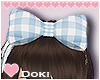 Blue Gingham Hairbow