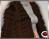 *SC-Fur Coat Brwn Layrbl