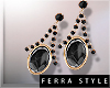 ~F~Vlada Earrings Black
