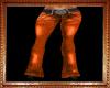 Orange Flare Jeans