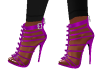 Zipper Purple Heels