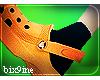 Orange Crocs