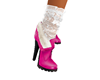 [T] Pink Boots with lace