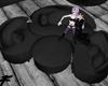 ~F~Luxury black 12p sofa