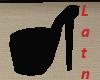 (A)Black High Heel Chair