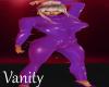 PVC Bodysuit in Purple