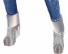 Metallic Silver Boots