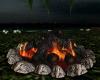 Outdoor Camp Log Fire