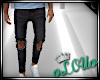 .L. Ripped Jeans Black