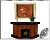 Stone fireplace & frame