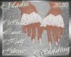 !a Wh Lace Half Gloves
