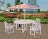 (20D) White garden table