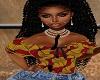 Afro Print Ruffle top