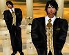 traje boda gold