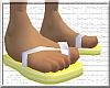 *CA* Yellow Flip Flops