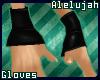A* Black PVC Wrist Cuffs
