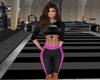 Gym Shorts-Black&Pink