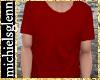 Casual t-shirt dark red