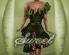 Olive Ruffles n Flowers