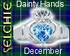 *S Dainty Claddagh Dec.