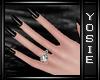 ~Y~Goth Black Nails