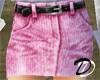 Belted Jean skirt (pnk)