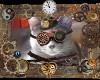 Steampunk Gray Cat