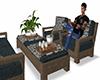Rustic Patio Sofa