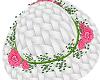 White Sunhat/Pink Flower