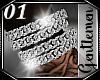 *01* Silver Bracelets R