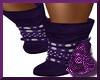 Purple Buckle Boots