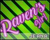 !J! Ravens Girl Sign