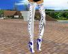 White Silk Boots & Ribon